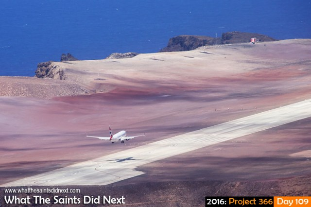 'Barn View' 18 April 2016, 12:08 - 1/640, f/11, ISO-400 What The Saints Did Next - 2016 Project 366 First 737-800 lands on St Helena - a Comair operated British Airways airplane.