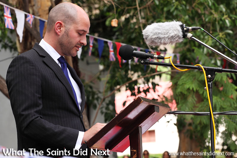 Mr Alex Cameron, Head of Southern Oceans Department, OTD, FCO, gave a speech at the Inauguration Ceremony.