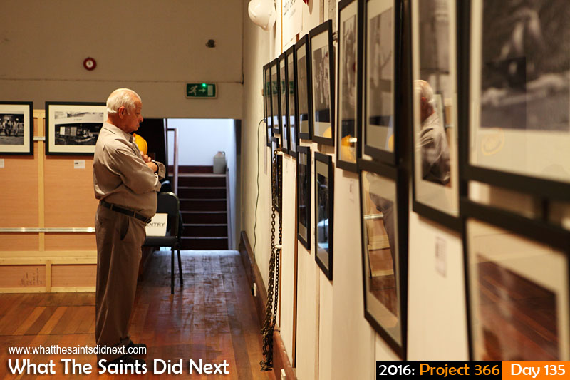 'Slim pickings' 14 May 2016, 12:20 - 1/60, f/4.5, ISO-1000 What The Saints Did Next - 2016 Project 366 Final open day for 'Labour Take-On Time' exhibition at Museum of St Helena.
