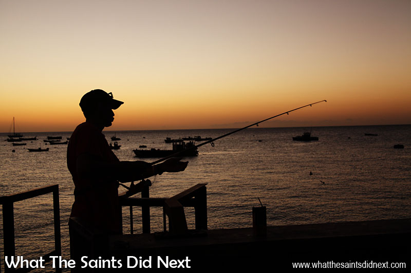 Fishing was previously a vital source of food on St Helena. In recent years as living standards have improved it has remained just as a popular but is now more done for recreation than necessity.
