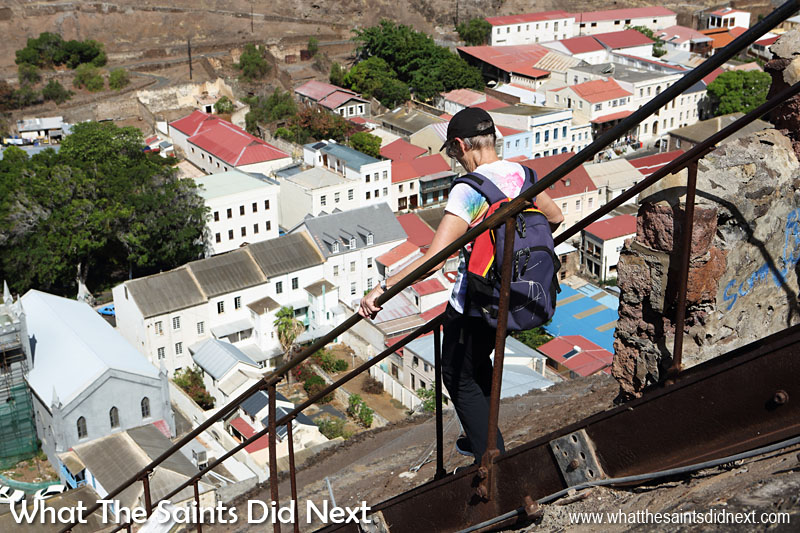 16 Pictures Celebrating St Helena Day 2016. The 699 steps of Jacob's Ladder is not to be undertaken lightly, but if you do, take a camera for the superb angles of Jamestown below which change with every step.