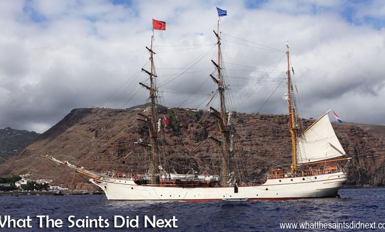 Tall Ship, Bark Europa At St Helena