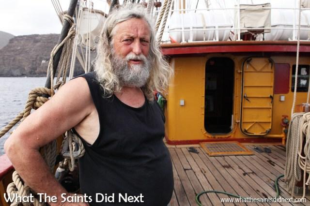 Captain Klaas Gaastra is one of three captains who alternate command of Bark Europa.
