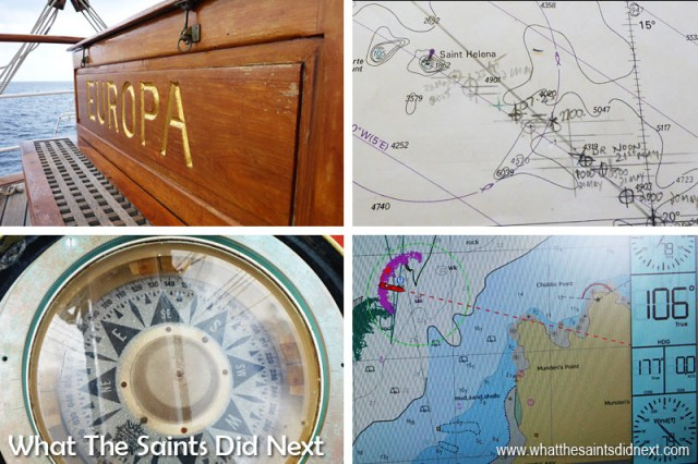 Bark Europa - navigating the high seas.