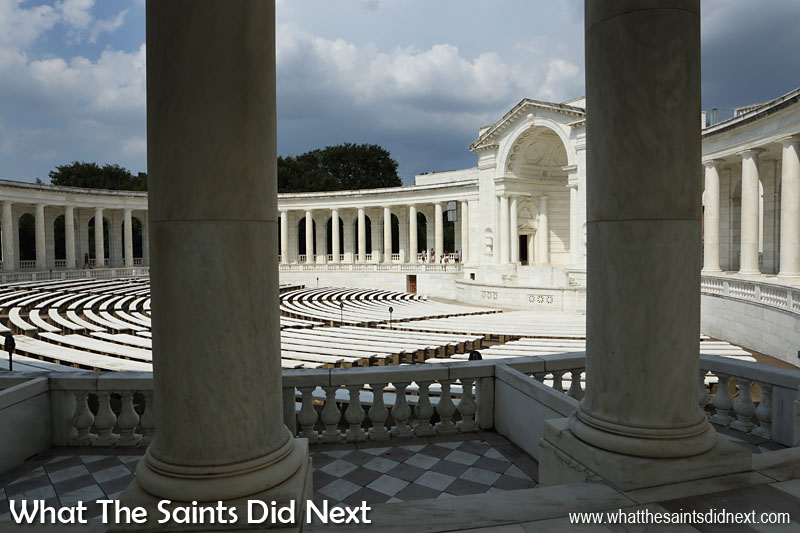 On Memorial Day and Veterans Day, thousands of visitors attend remembrance services in the Memorial Amphitheatre in Arlington National Cemetery. These special services are often attended by the President or Vice President of the United States.