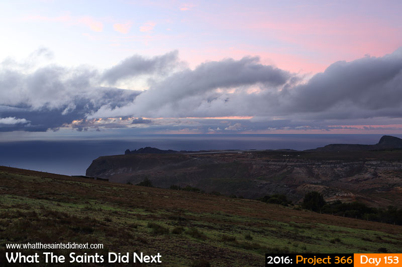 'Uplifting' 1 June 2016, 06:34 - 1/6, f/8, ISO-200 What The Saints Did Next - 2016 Project 366 A cloudy dawn over Prosperous Bay Plain, St Helena.