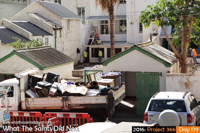 'Iceland' 27 June 2016, 11:23 - 1/320, f/8, ISO-200 What The Saints Did Next - 2016 Project 366 Work on the St Helena Hotel in Jamestown begins.