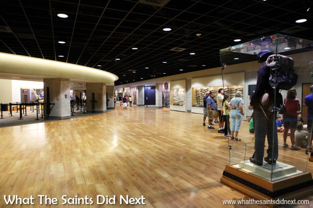 Inside the large open spaces of the Gettysburg Visitor Centre.