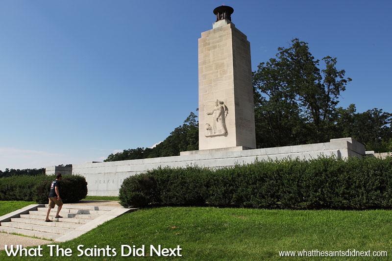 Eternal Light Peace Memorial in the Gettysburg National Military Park.