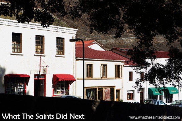 The Georgian architecture of Jamestown, St Helena, descending down through Market Street.