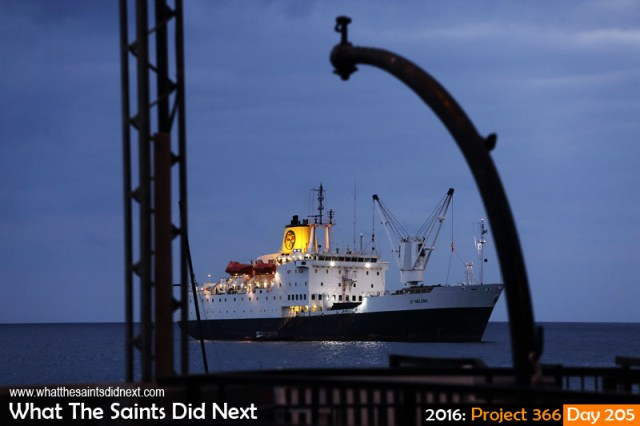 'Kuwait 54' 23 July 2016, 18:18 - 1/60, f/5.6, ISO-800 What The Saints Did Next - 2016 Project 366 RMS St Helena at anchor in James Bay, St Helena.