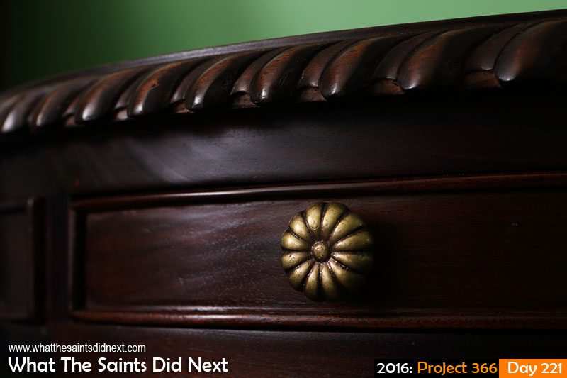 'Quadrooter' 8 August 2016, 12:05 - 0.8, f8, ISO-200 What The Saints Did Next - 2016 Project 366 Antique furniture in Longwood House, St Helena.