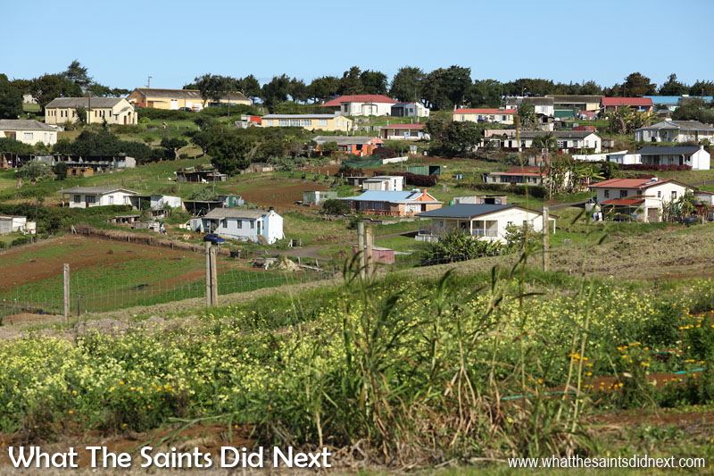 The neighbourhood of Blackfield and Longwood Avenue within Longwood, St Helena.