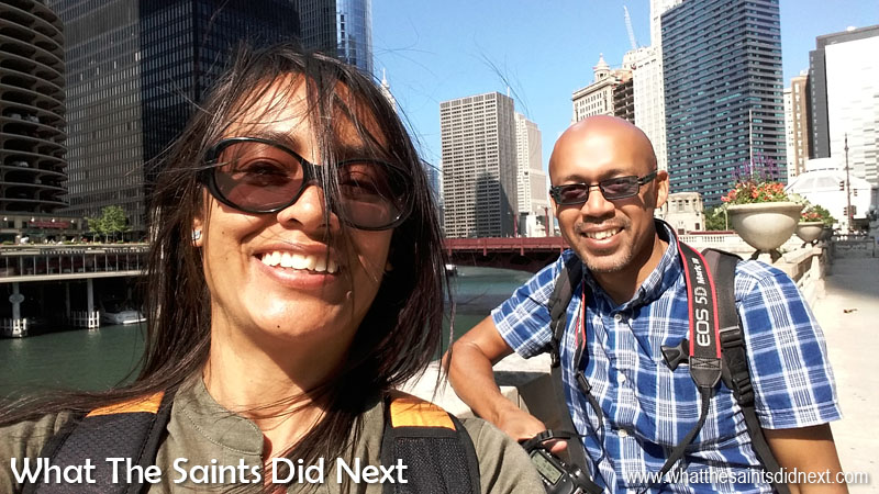 But first... - The day my mobile photography 'discovery' really began. Of course, the selfie phenomenon can be attributed to the mobile camera and with the two way camera modes it's too tempting not to! This is us in the windy city of Chicago, USA. Tips To Improve Your Mobile Photography
