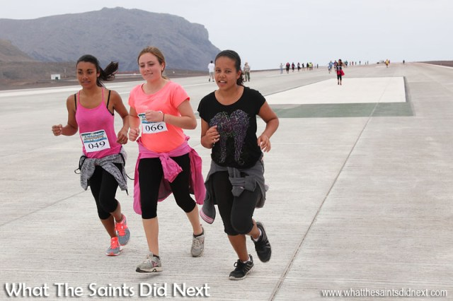 The first ever St Helena Airport runway dash - 29 August 2016.