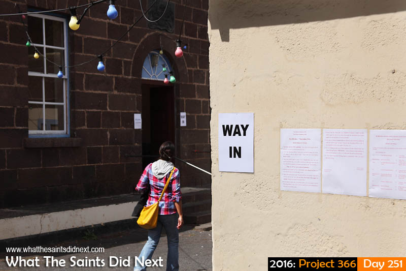 'Headphones'<br /> 7 September, 2016, 10:15 - 1/640, f8, ISO-200<br /> Community centre becomes a polling station for a bye-election.