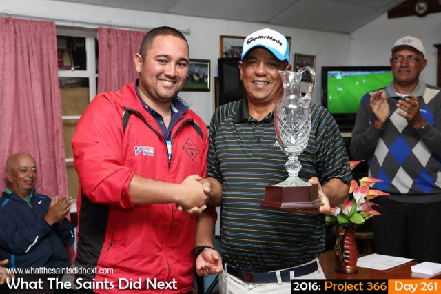'Harvest moon' 17 September 2016, 17:40 - 1/80, f7.1, ISO-400 What The Saints Did Next - 2016 Project 366 Larry Legg (right) wins 2016 St Helena Golf Open.