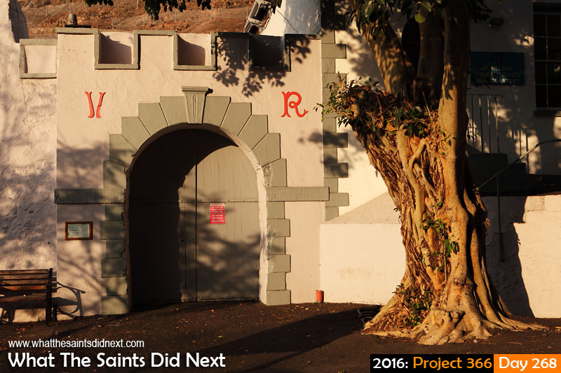 'Time machine' 24 September 2016, 17:23 - 1/250, f8, ISO-200 What The Saints Did Next - 2016 Project 366 Historic entrance to the PWD yard at the Castle, Jamestown, St Helena.