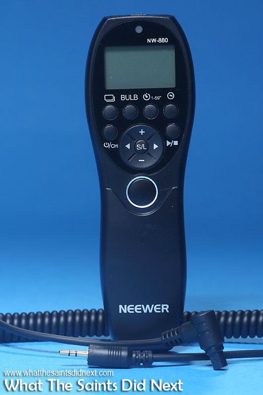Gift ideas for photographers - Neewer Camera Wired Timer Remote Control.