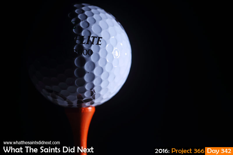 'Aceh' 7 December, 2016, 18:46 - 1/125, f6.3, ISO-100 + flash Golf ball on a tee.