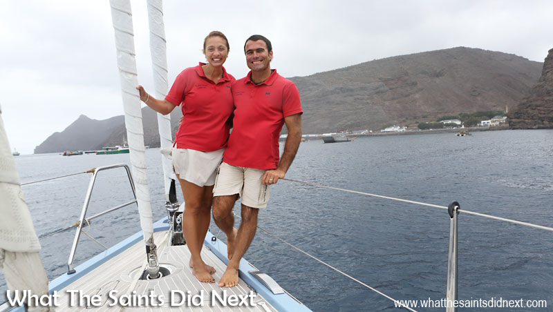 Cheryl and Morgan Morice return for a quick visit to St Helena while sailing around the world.
