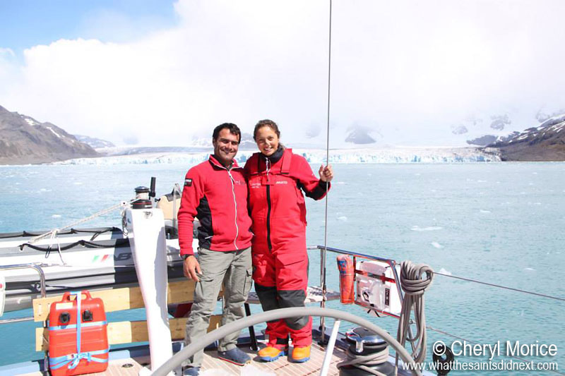 """South Georgia - is harsh but it's beautiful and the wildlife is unbelievable."" Morgan and Cheryl rates South Georgia in their top five places visited.  Girl Meets Boy And Sails Off Into The Sunset To Travel The World."