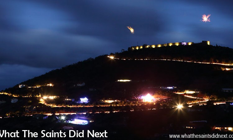 High Knoll Fort Lights Up St Helena Skyline