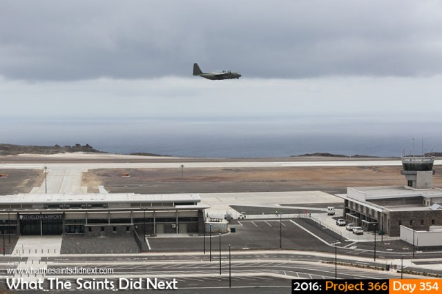 'Breitscheidplatz' 19 December 2016, 10:26 - 1/800, f8, ISO-200 What The Saints Did Next - 2016 Project 366 RAF C-130 Hercules departing from St Helena Airport, bound for Ascension Island.