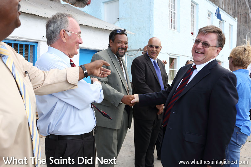 Governor of St Helena, Mark Capes, completed his time on the island in March 2016 and said a traditional farewell to members of Legislative Council at the wharf. Before leaving he gave What The Saints Did Next an exclusive interview and revealing insight into his time as governor of St Helena.