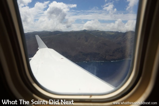 Minute 5 - Soon (hopefully) this view of St Helena will become the new normal. Flying from St Helena Airport.