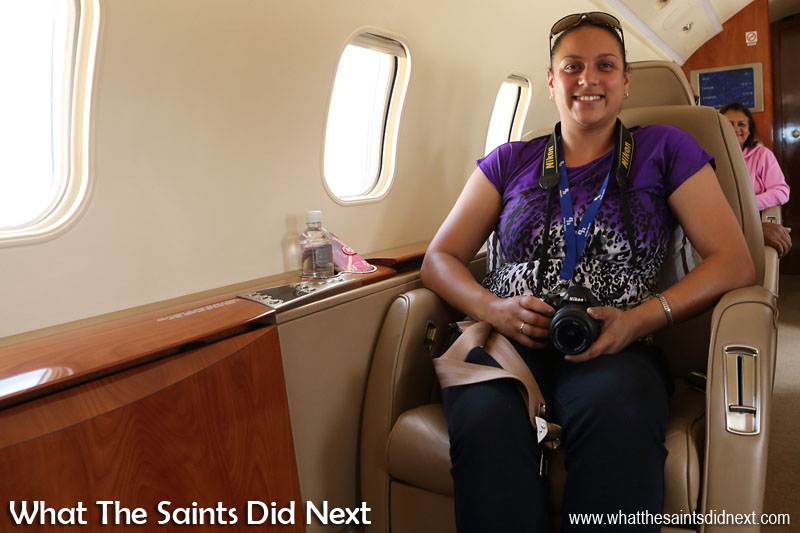 Tessa Roberts. First time flying from St Helena Airport.