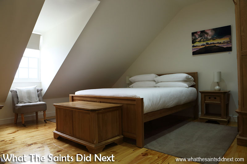 Guest room interiors at the newly refurbished Bertrand's Cottage, St Helena in Longwood.