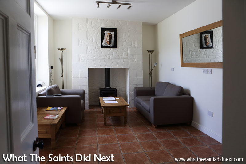 Interiors at the newly refurbished Bertrand's Cottage, St Helena in Longwood.