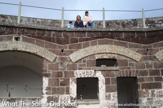 Things To Do With Kids On St Helena - On a visit to High Knoll Fort in 2007 with April and Nicole.