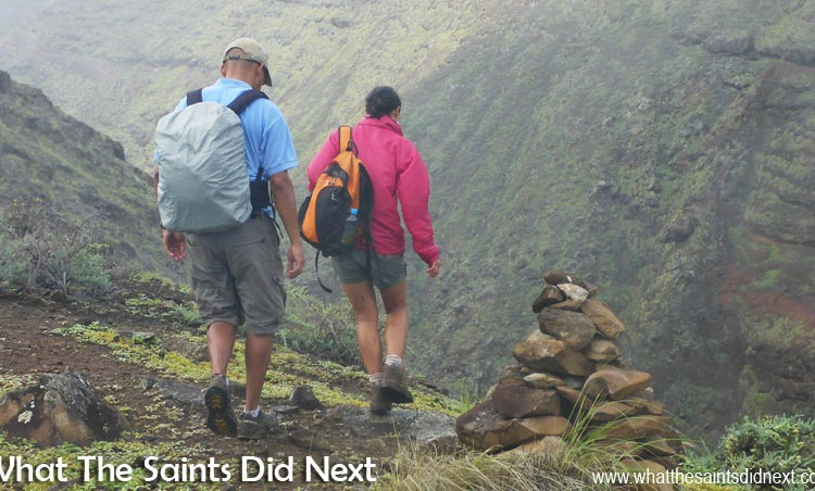 Walking on St Helena – Thompson's Valley Post Box in the Rain