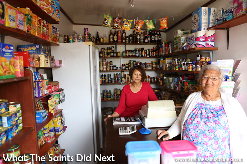 Patsy Greentree running shop in New Ground. A small St Helena shop that has operated for over 20 years. Country Shops, Part 2 - District Pillars of the St Helena Community