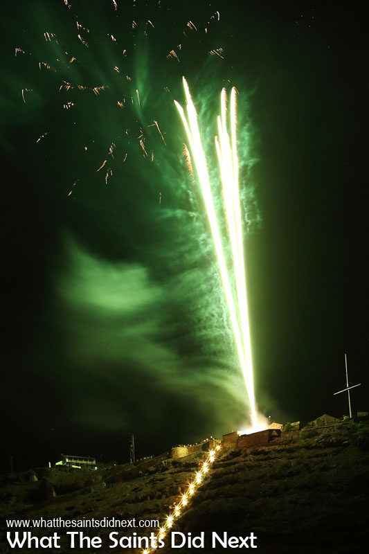 St Helena Day 2017 fireworks.