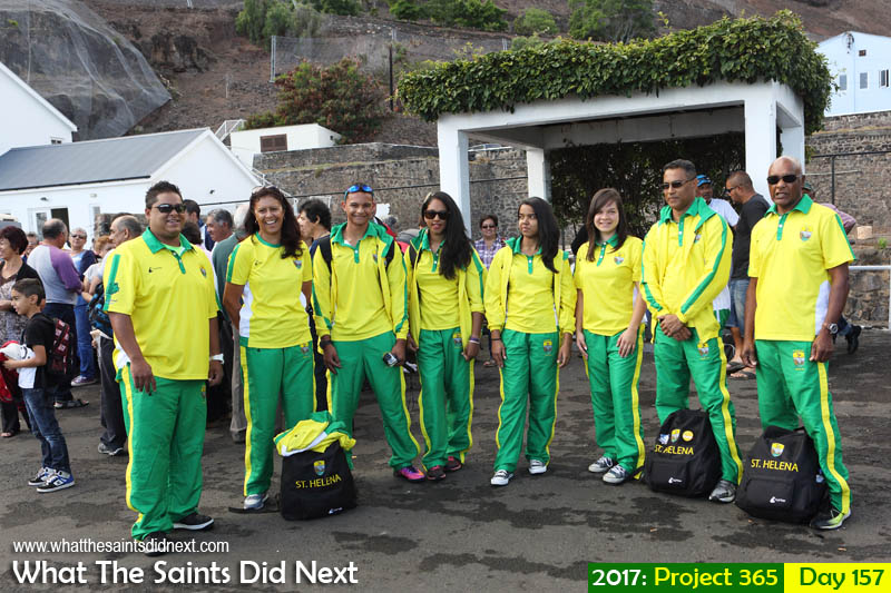 Team St Helena heading off to the Small Island Games 2017 in Gotland, Sweden.