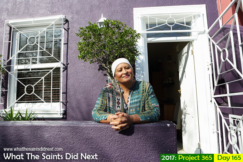 Cape Malay cooking teacher, Faeeza, in the Bo Kaap district of Cape Town