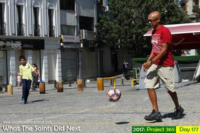 Street football Istanbul Turkey
