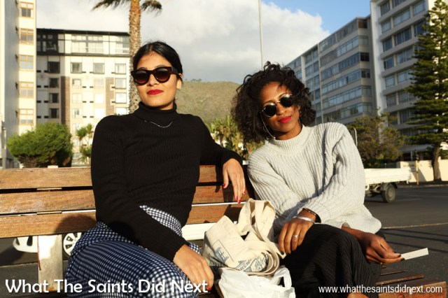 Cape Town People, Afrah and Iman on the Sea Point promenade.