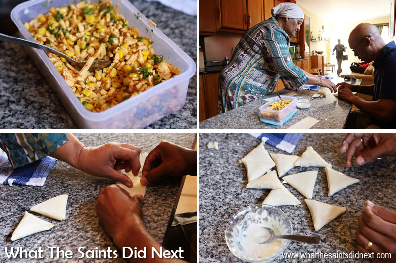 How to make samosas. Check out the video above to see how it's done.