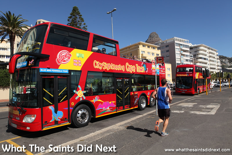 The city sightseeing red tour bus allows visitors to see most of the Cape Town points of interest in one day.