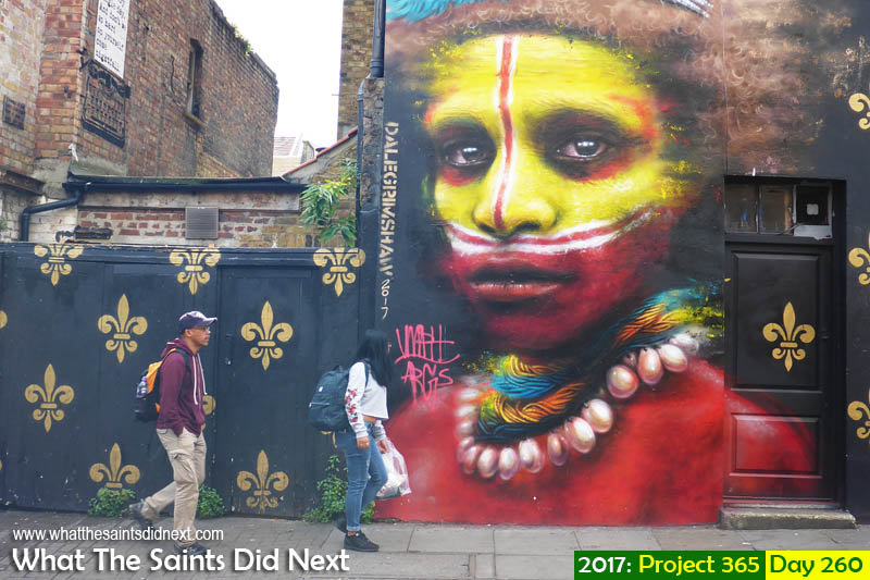 'Old wounds'<br /> 17 September, 2017, 12:39 - 1/125, f4, ISO-100 - Lumix DMC-FT5<br /> The amazing grafitti street art in Brick Lane, London.