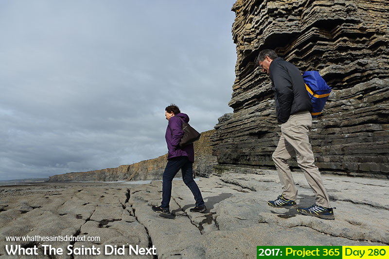 'Here's Nate'<br /> 7 October, 2017, 14:23 - 1/640, f8, ISO-200<br /> Exploring the expansive Nash Point rocky carpet along the Vale of Glamorgan coastline in Wales, UK.