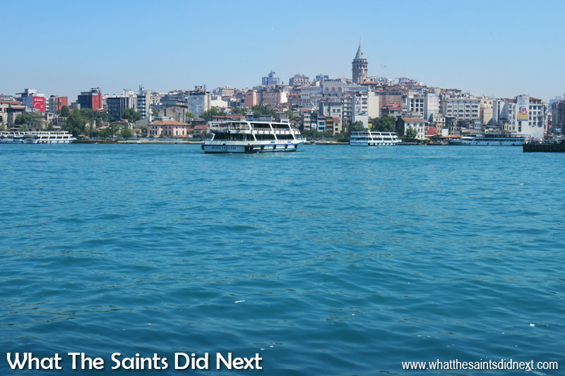 Photographing Istanbul - we were lucky enough to witness the stunning turquoise of the Bosphorus caused by an influx of millions of microscopic plankton.