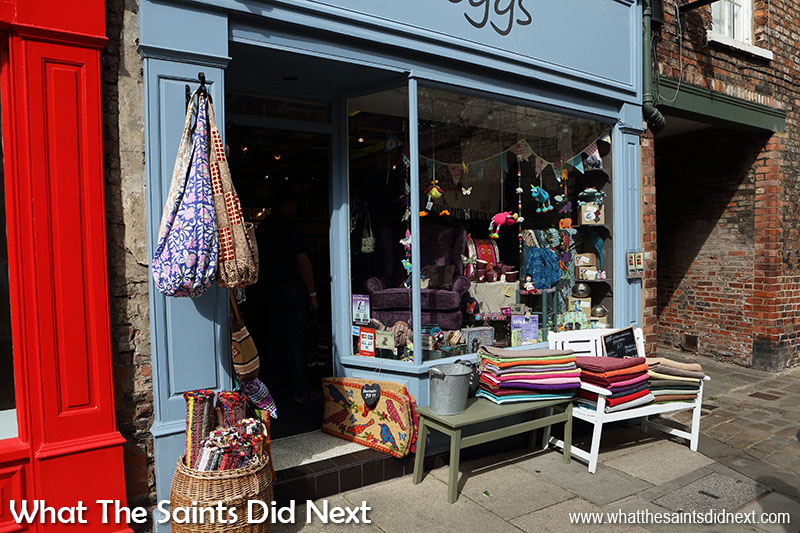 "The alluring and colourful <a href=""https://www.visityork.org/shopping/cleggs-p799491"" target=""_blank"" rel=""noopener"">Cleggs shop</a> near Monk Bar York."