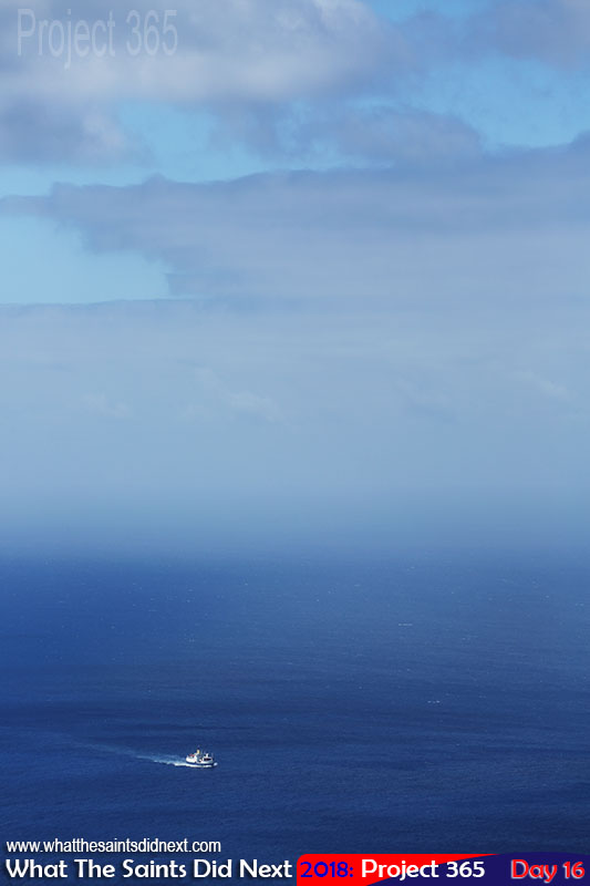 """<a href=""""http://whatthesaintsdidnext.com/going-home-say-goodbye-last-voyage-on-the-rms-st-helena/"""" target=""""_blank"""" rel=""""noopener"""">RMS</a> approaching the Island from Ascension Island. January, 2018."""