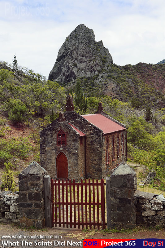 Baptist Chapel with Lot in the background, Sandy Bay. February, 2018.