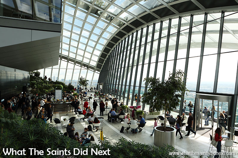 The Sky Garden Fenchurch Street three storey atrium is impressive.